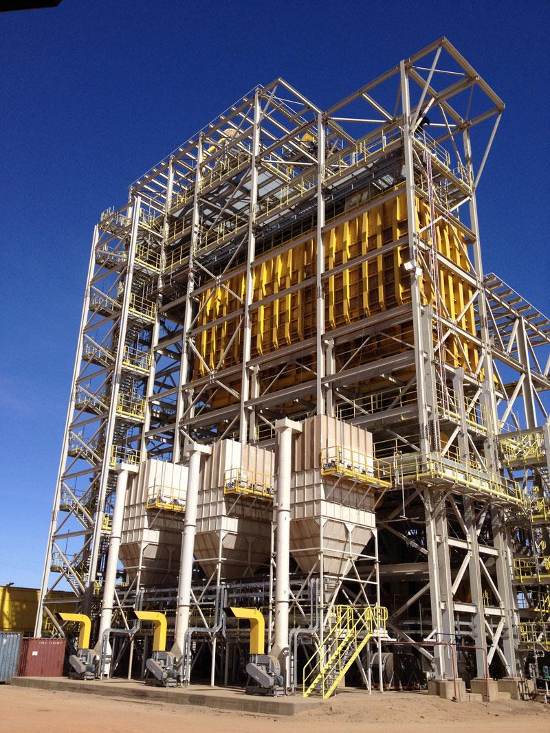 Montaje y soldadura de Estructura metálica pesada y montaje equipos